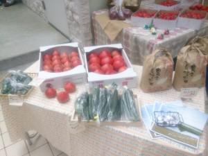 マルシェ、BASE、野菜、トマト、きゅうり